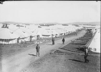 3rd Australian General Hospital at Mudros. Photographer unknown, photograph source AWM A03075