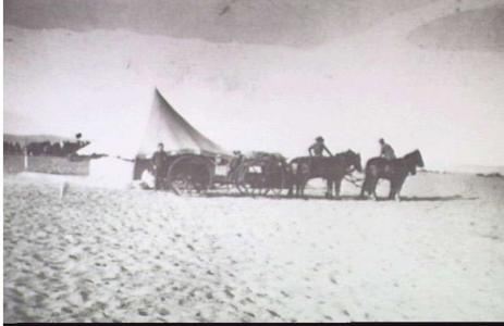 1st Australian Light Horse Mail Wagon outside Post Office tent, Palestine c1916. Photgraph donor R. French , photograph source AWM P00626.009