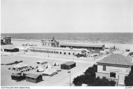2nd Stationary Hospital in Port Said 1916. Photograph donated by M.E. McCarthy, photograph source AWM J02999