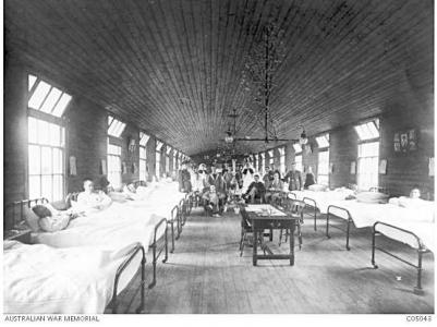 3rd Auxilliary Hospital Dartford. Photographer unknown, photograph source AWM C0504