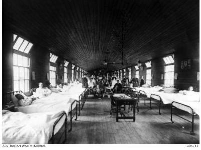 3rd Auxilliary Hospital Dartford. Photographer unknown, photograph source AWM C05043