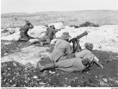 3rd Light Horse Brigade Machine Gunner Squadron 1917. Photographer J.F. Hurley, photograph sourced AWM B01489