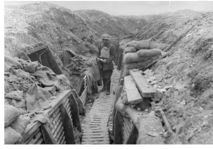 3rd Tunnellers in Hythe Alley, Hill 70, near Loos  1917. Photographer unknown, photograph source AWM E01712
