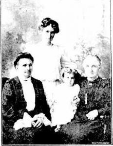 4 Generations. Mrs Jones, Mrs Godley(nee Jones), Ivy Godley, Mrs G.Best. Photograph source Western Mail 12.12.1908 p26