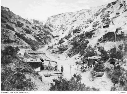 4th Field Ambulance Hospital Gallipoli  July 1915. Photographer unknown, photograph source AWM C00661
