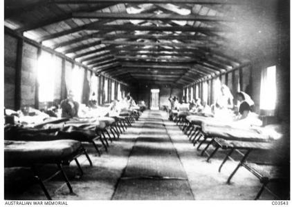 Abassia Hospital, Cairo, Egypt 1916. Photographer unknown,photograph source AWM C03543