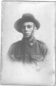 Private Charles Cecil Rhodes. 1914. Photograph reproduced with permission of D. Rhodes