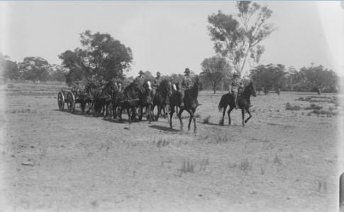 Artillery Training at Guildford. Photographer Mitchell, E. L. photograph source SLWA 031217PD