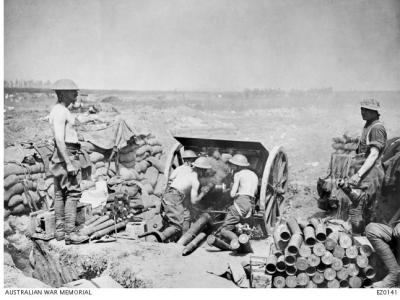 Australian Artillery at Pozieres 1916.  Official British Photograph, source AWM EZ0141