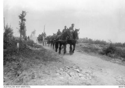 Australian Soldiers travelling to Messines Ridge June 1917. Photographer unknown, photograph source AWM E00475