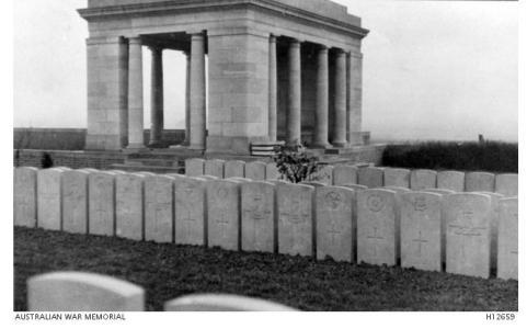 Bailleul Cemetery and shrine. Photograph donor Sir Herbert Ellison, photograph source AWM  H12659