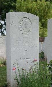 Thomas Barlow's grave. Photograph reproduced with permission of M. Roberts