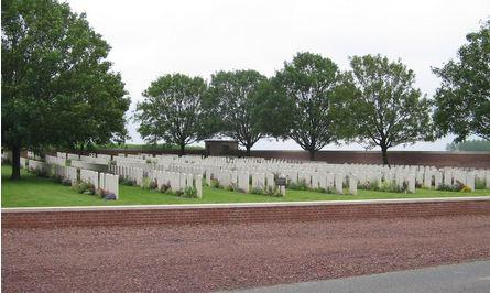 Beacon Cemetery, Sailly-Laurette, France. Photographer unknown, photograph source CWGC