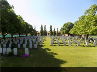 Belgium Battery Cemetery, British Corner, West Vlaanderland, Belgium. Photograph source CWGC