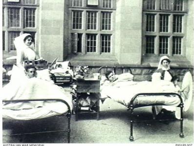 Birmingham University Hospital. Photographer unknown, photograph source AWM P00189007