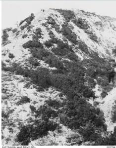 Bloody Angle, Gallipoli, right hand corner in valley 1919. Produced by James, W.H., Swanston W.H., photograph source AWM G01766