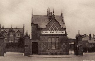 Brook War Hospital, Greenwich c 1915. Photograph source- post card Greenwich Heritage Trus