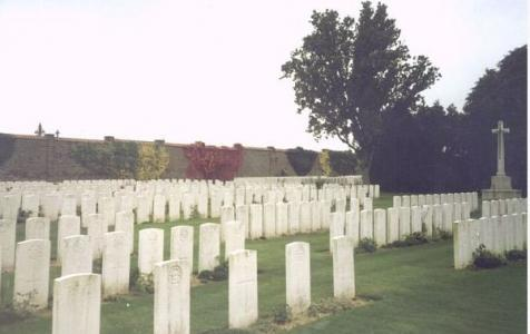 Busigney Communal Cemetery Extension. Photograph source CWGC website