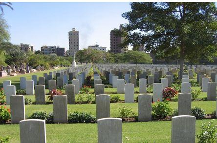 Cairo Military Cemetery. Photographer unknown, photograph source CWGC