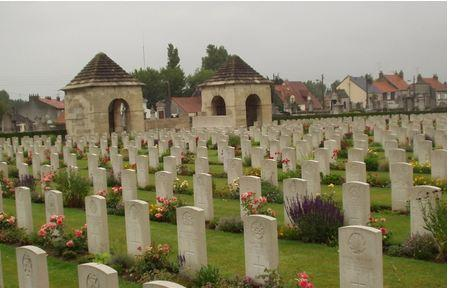 Calais Southern Cemetery, France. Photographer unknown, photograph source CWGC