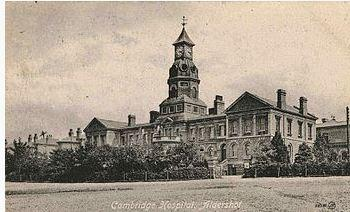 Cambridge Military Hospital, Aldershot, UK. Postcard image source Wikipedia