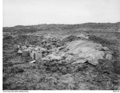 Camourflaged Trenches at Broodseinde Ridge 1917, AWM E04739