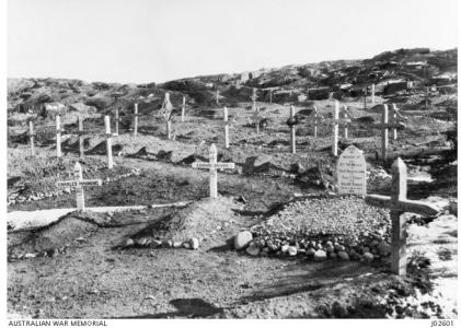 Cemetery at Shellgreen. Photograph donor Lt.-Col. A.M. Martyn, photograph source AWM J0260