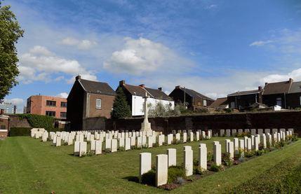 Charleroi Communal Cemetery, Belgium. Photographer unknown, photograph source CWGC
