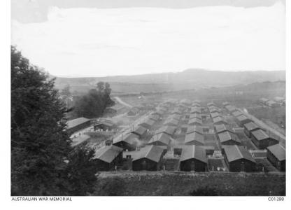 Codford No. 7 Camp 1917. Photographer unknown, photograph source AWM C01288