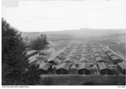 Codford Training Camp, Salisbury Plains 1917. Photographer unknown, photograph sourced from AWM C01288