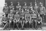 Group of 32nd Bn. NCOs at Hurdcott Camp 1917. Cpl. Liddington 2nd from left. Photo source AWM P09291.187