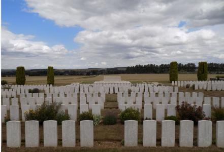 Crouy British Military Cemetery, Crouy-sur-le Somme. Photographer unknown source CWGC