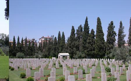 Damascus Military Cemetery. Photographer unknown, photograph source CWGC website