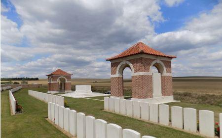 Dernancourt Communal Cemetery Extension. Photographer unknown, photograph source CWGC