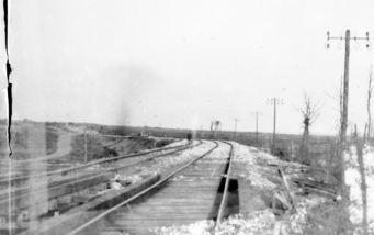 Dernancourt, the Amiens-Albert railway, scene of battle in April 1918. Photographer unknown, photograph source AWM E03794