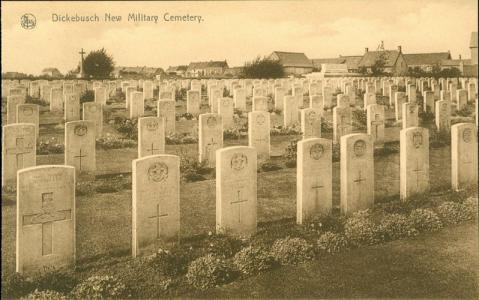 Dickibusch New Military Cemetery. Photograph source postcard