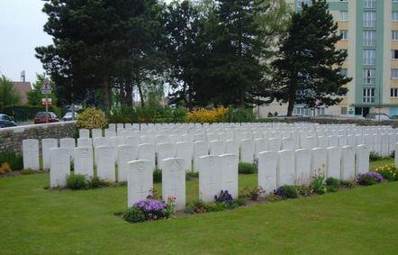 Douai British Cemetery Cuincy. Photographer unknown, photograph source CWGC