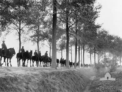 Road to Ypres 1917. Photographer unknown, Photograph source AWM E00827