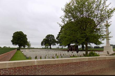 Euston Road Cemetery, Colincamps, Somme, France. Photographer unknown, photograph source CWGC