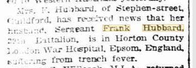 F.H. Hubbard. Image source Daily News 23.4.1918 p3