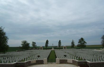 Flers Cemetery, Somme, France. Photographer unknown, photograph source CWGC