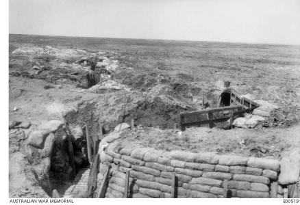 Flers battlefield showing old trenches. Photographer unknown, photograph sourced AWM  E00519