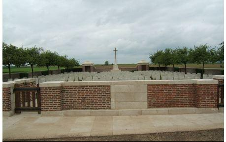 Fouquescourt British Cemetery, Somme, France. Photographer unknown, photograph source CWGC