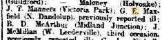 G E Maxfield, wounded previously reported sick. The West Australian 19.9.1916 p8