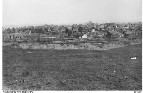 German fortified town of Beaurevoir 1918. Photographer unknown, photograph source AWM E03609