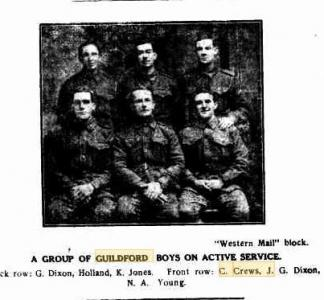 Guildford Boys on active service. Photo source Western Mail block in Swan Express(Midland) 14.12.1916 p6