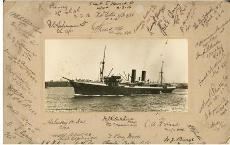HMAT 'Miltiades'. Photograper unknown, photograph source AWM P08559.001