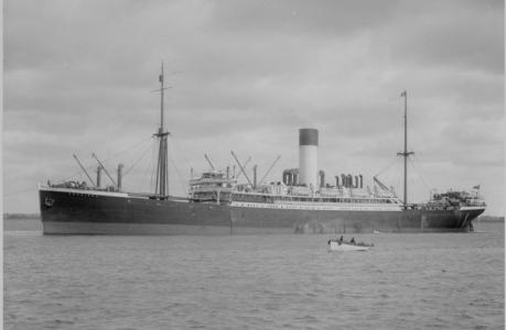 HMAT 'Anchises'. Photographer A.C.Green, photograph sourced and reproduced with permission of  Great Southern Postcard