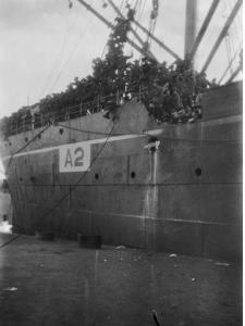 HMAT 'Geelong' at Alexandria. Photographer Schuler P.E.F. Photograph source AWM  PS0366