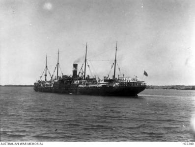 HMAT 'Itonus'. Photographer unknown, photograph source  AWM H02240